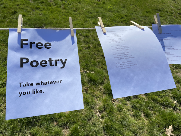 Free poetry on a clothesline